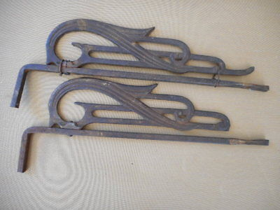 Vintage Cast Iron Art Deco Drapery Rods-Pair