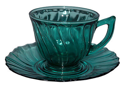 Jeannette Ultramarine Swirl Cup and Saucer