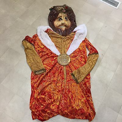 Rubies Burger King Adult Halloween Costume Full Head Latex Mask Necklace Robe