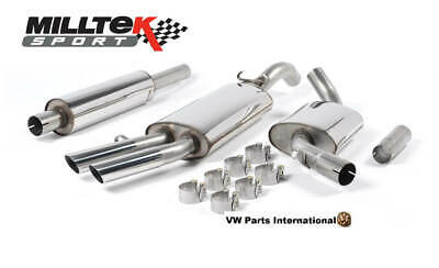 VW Golf MK2 GTI 8v Milltek Sport Front Pipe Back Exhaust with Polished OE Style