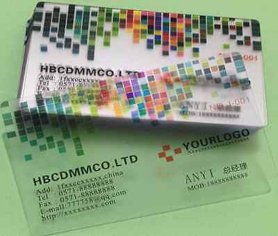 100 PVC Plastic Business Cards - Frosted Translucent Full Color Free Shipping