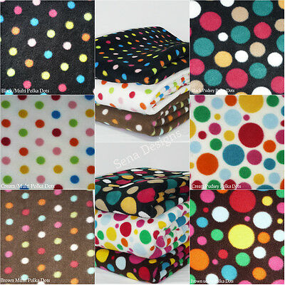 Polar Fleece Anti Pill Fabric Premium Quality Soft Multi Polka Dots Fabric
