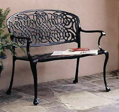 Cast Aluminum Victorian French Style Cozumel Garden Bench - Antique Repro.