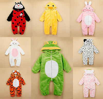 Baby Kids Animal Fancy Dress Carnival Party Costume Plush Outfit 6 12 18 24m