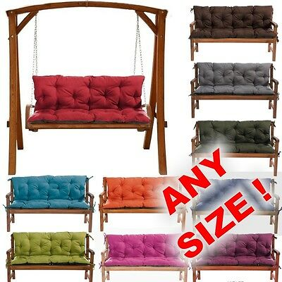 ANY SIZE Replacement Cushions 1-4Seat for Garden Swing Bench Chair Seat+Backrest