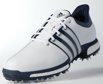 NEW Adidas Tour 360 Boost Golf Shoes White-Dark Slate Style #Q44822 Medium Width