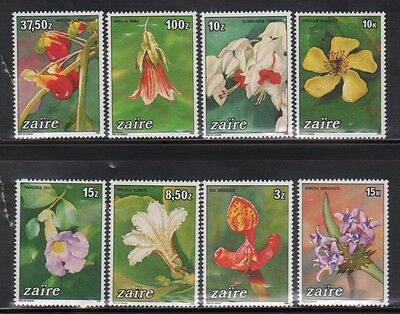 Zaire 1146-53 Orchids and Flowers Mint NH