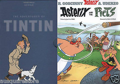 Asterix and Tintin Comics Collection Set Pack of 59 Books