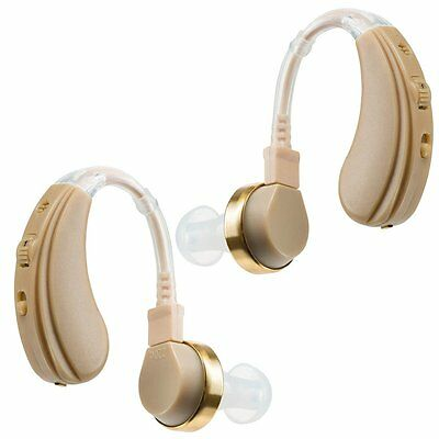 Cyber Science Best Hearing Aid Amplifier 2-Set Behind the Ear Digital Device New