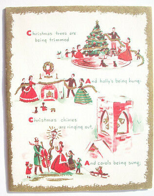 Activities of Christmas vintage greeting card C*