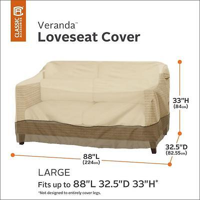 Large Patio Sofa Loveseat Cover, Water Repellant Fabric