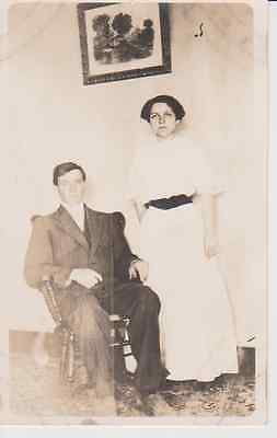 Formal Couple RPPC 1910 - 1920 Vintage Unused Postcard