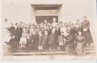 School Photo Teachers & Students RPPC 1910 to 1920 Vintage Unused Postcard
