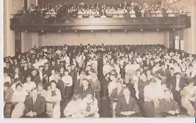 Auditorium Filled With People RPPC 1910 - 1920 Vintage Unused Postcard