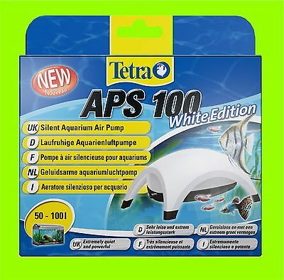 Tetra APS 100 POMPE À AIR AQUARIUM BLANC Edition A POUR 50-100l