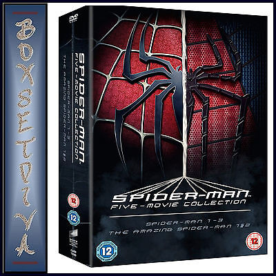 The Spider-Man Complete 5 Film Collection Boxset - Spiderman   *Brand New Dvd **