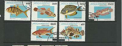 6  Tropical  Fish Stamps  Complete CTO
