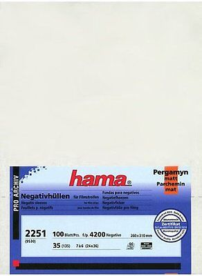Museum Quality 100 Pcs Hama Negative Sleeves Feuillets for 35mm Film Strips