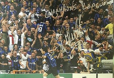 Diego Milito Signed Huge Inter Milan Champions League Winners Photo+Photo Proof