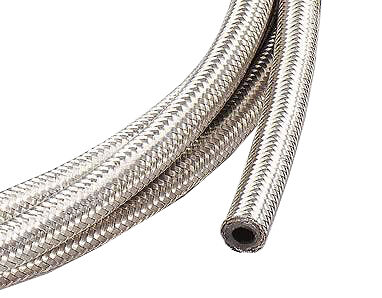 1m of 8mm Motorsport Braided Fuel Hose Stock Kit Car Race Rally Autograss Track