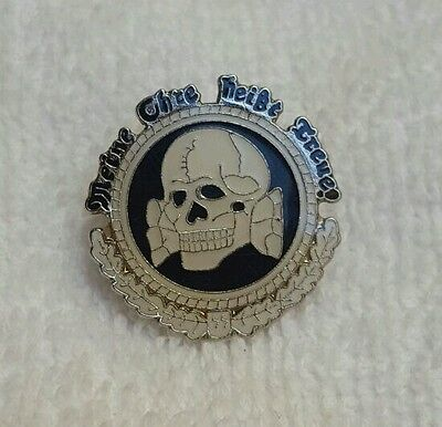 REPLICA.WW2 GERMANY SS. ss.wwII emblem pin.replic.SS totenkopf.