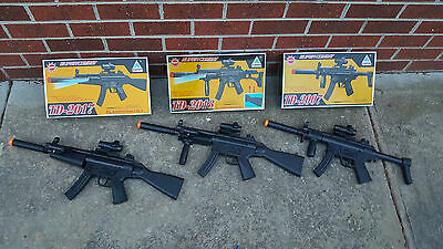 TOY GUN x3 MP5 submachine pistol variants light up laser - perfect cosplay Nerf
