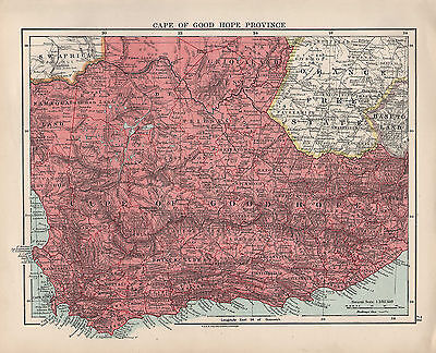 1924 Print ~ South Africa ~ Cape Of Good Hope Province Prince Albert Griqualand