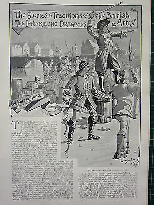 1896 Illustrated Article ~ The Inniskilling Dragoons Glories & Traditions Army