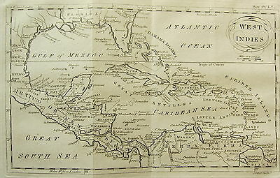 1797 GEORGIAN MAP ~ WEST INDIES ~ BAHAMAS CARIBEAN CUBA  GULF of MEXICO
