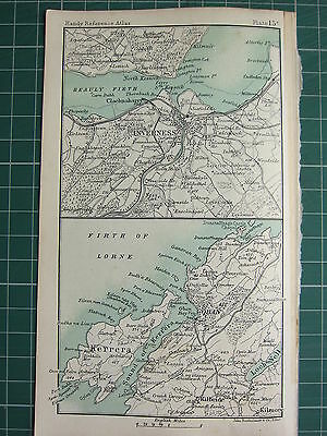 1904 Small Map ~ Inverness Environs City Plan ~ Oban Kerrera
