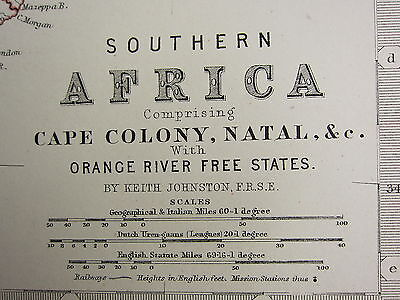 1873 Large Victorian Map North West Africa Marocco Algeria Tunis Cape Colony