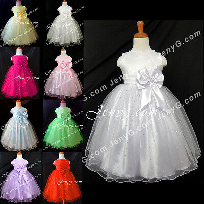 #SB6 Baby Girl Christening Baptism First Holy Communion Pageant Party Gown Dress