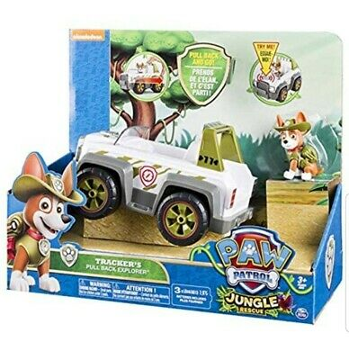 Paw Patrol Tracker GENUINE Jungle Rescue SYDNEY Stock Figure Pup Vehicle Toy NEW