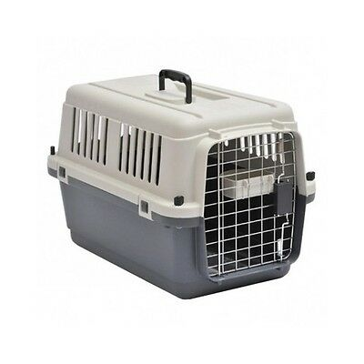 Plastic Dog Carrier Airline Approved Pet Portable Crate House Cage Safety Travel