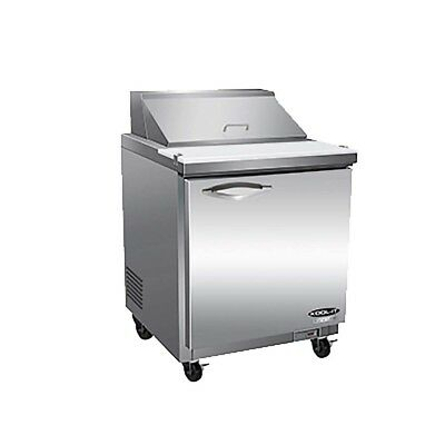 """1 Door Commercial Refrigerated Sandwich Prep table cooler sandwich unit NEW 29"""""""