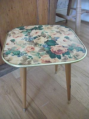Arnold Designs retro vintage SMALL  table With  dansette legs