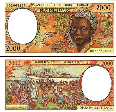 Central African States Chad 2000 Francs 2000 Unc P 603P