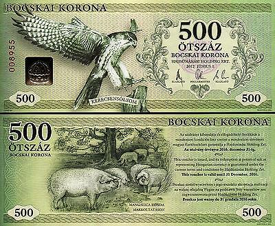 Hungary 500 Bocskai Koruna 2012 Currency Unc Bird / Pig