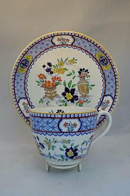 Fabulous Oversize Antique Minton Cup and Saucer Chinoiserie