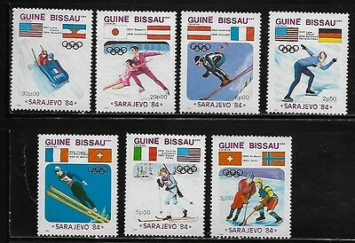 Guinea Bissau 529-35 Winter Olympic Sports Mint NH