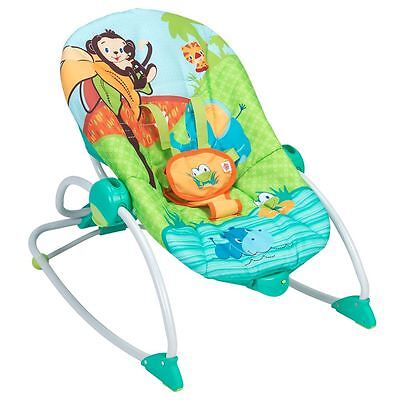 Bright Starts™ Peek-A-Zoo Rocker - sure to comfort and entertain baby -Brand New