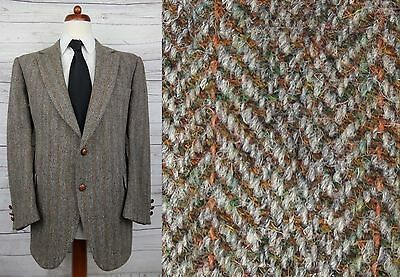 Vtg 70s / 80s Brown Herringbone Harris Tweed Jacket -44- DB94