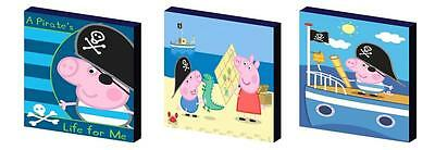 GEORGE PIG PIRATE - peppa ART BLOCKS/ WALL ART PLAQUES/PICTURES