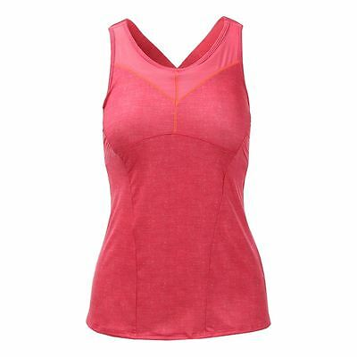 Lucky In Love Women's Tennis Top Tank Ct291 Size Small Hibiscus  Nwt