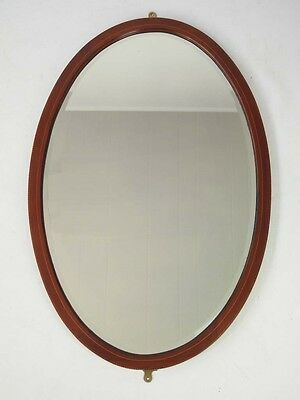 Antique Edwardian Mahogany Mirror -Vintage Overmantle Overmantel Bedroom Hall