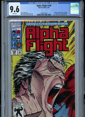 Alpha Flight #106 (1992) Marvel CGC 9.6 White Pages Northstar Revelation Issue