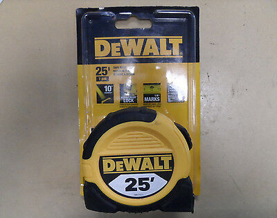 DEWALT DWHT33373L 1 1/8-Inch x 25-Foot Short Measuring Tape, 10-Foot Stand Out