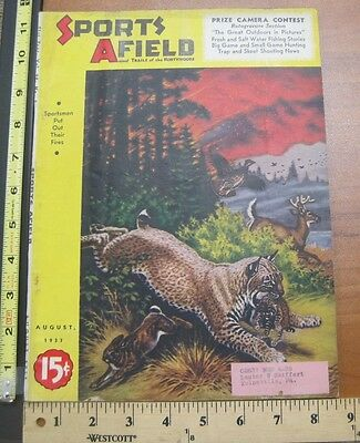 Vintage Hunting Fishing Trapping Magazine Sports Afield August 1937