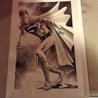 Original Superman Sketch DC Comics - Mike Rooth