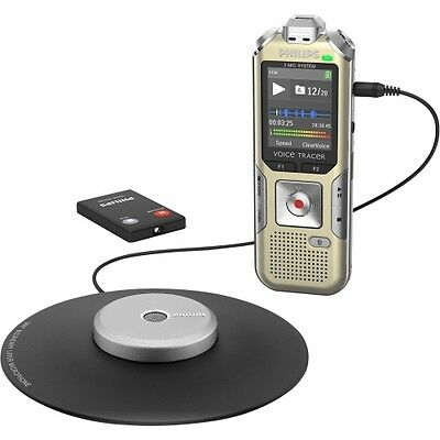 NEW Philips DVT8000 Voice Tracer Meeting Recorder with 360° Recording 1.8-in